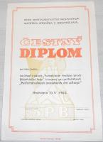 ČSSR Čestný diplom Svazu proti f. bojovníků