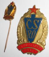 ČSSR Čs. Svaz požární ochrany + miniatura za příkladnou práci