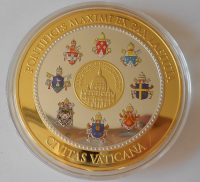 Vatikán Papež Benedikt XVI. , průměr 70 mm