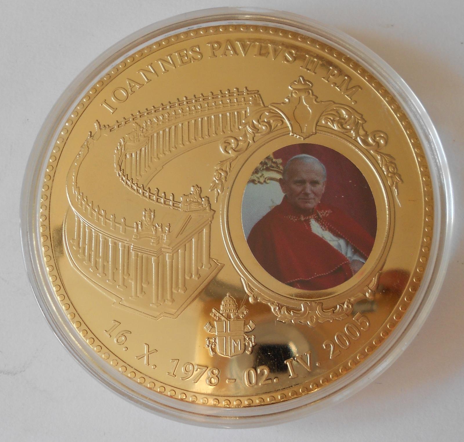 Vatikán Papež Jan Pavel II. , průměr 70 mm