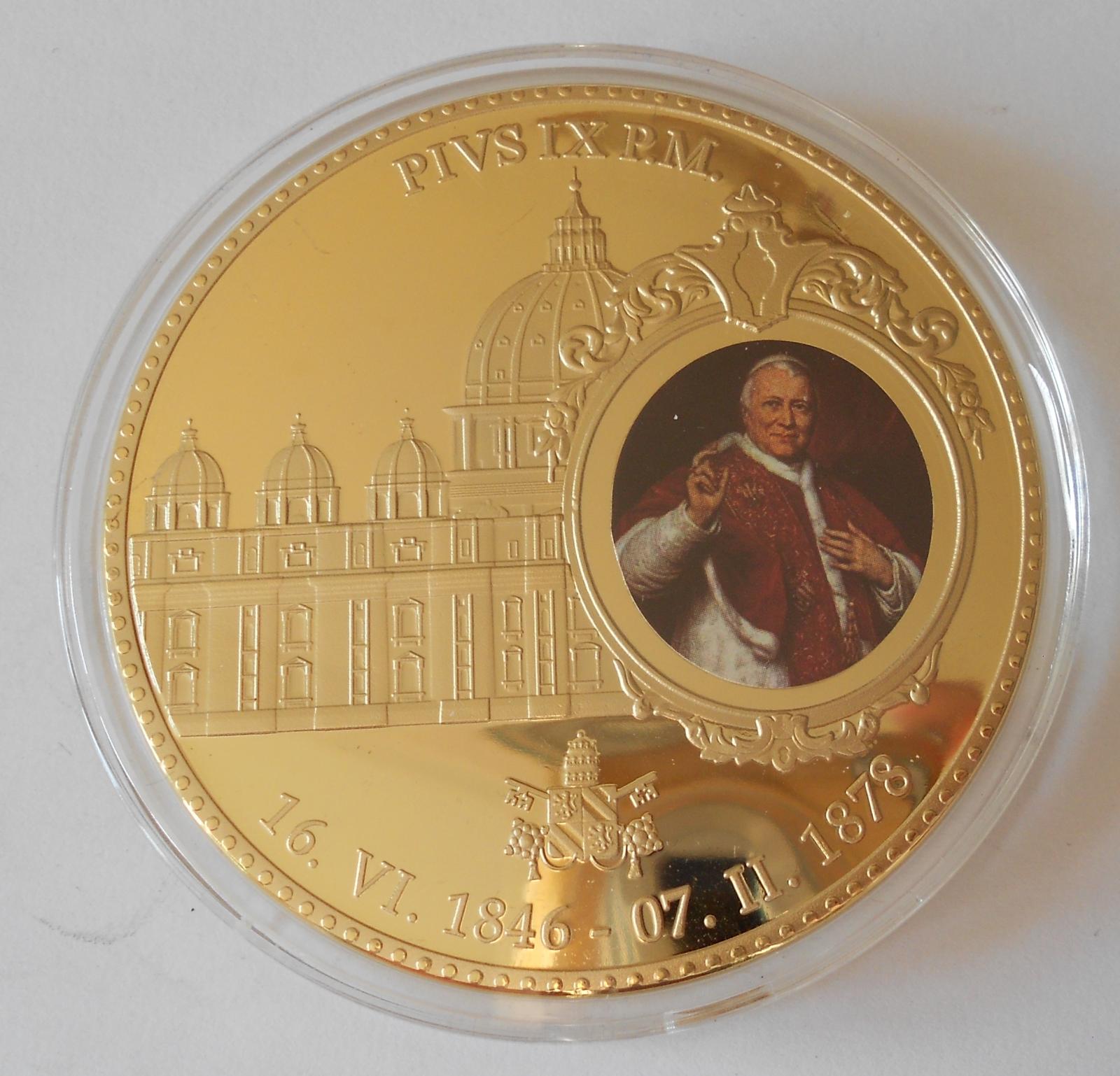 Vatikán Papež Pius IX. , průměr 70 mm