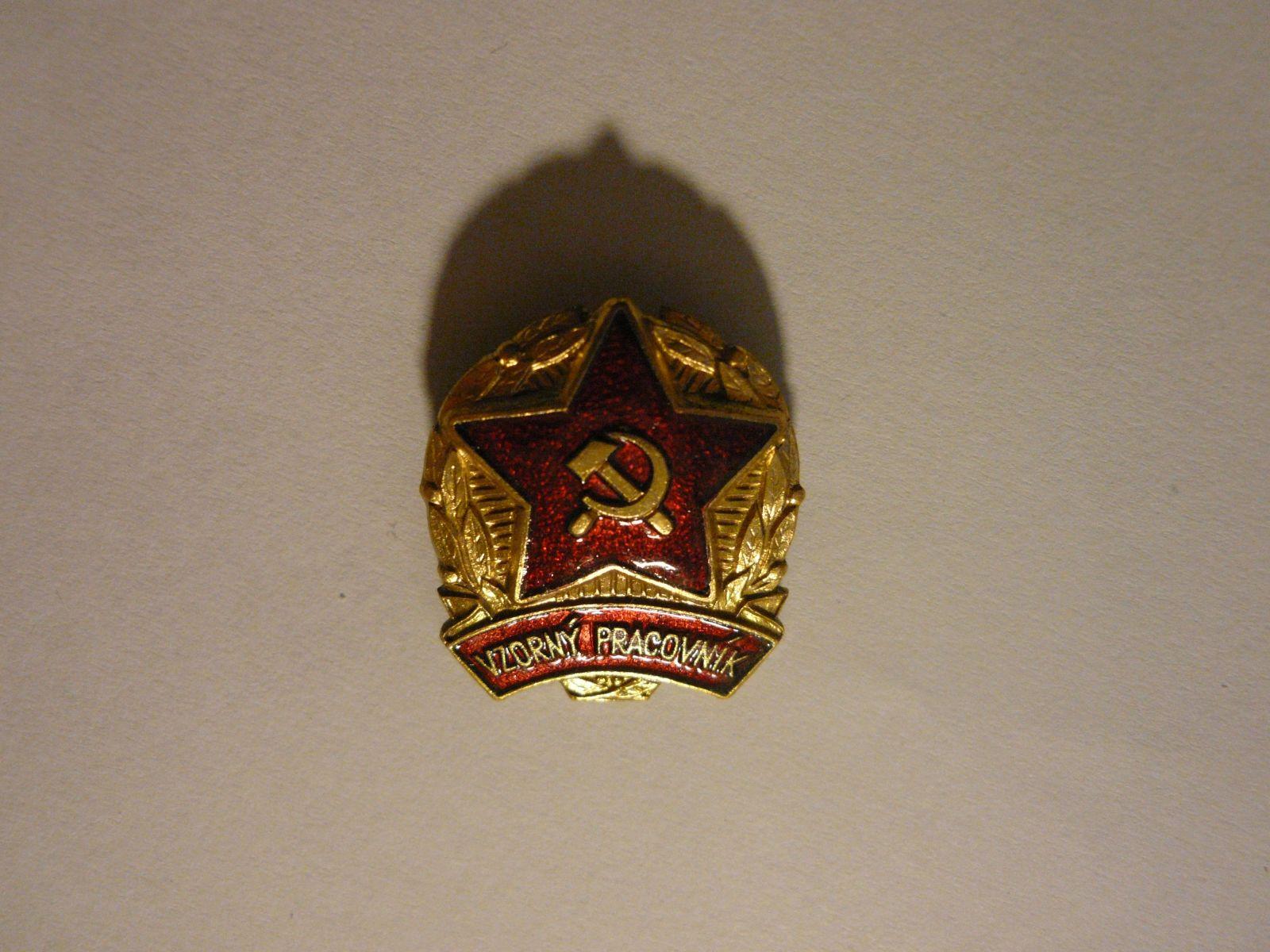 Vzorný pracovník- zlatý stupeň, ČSSR