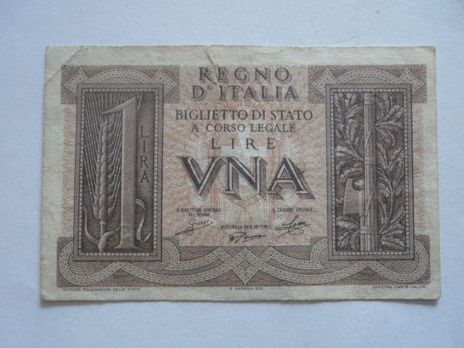 1 Lira, Itálie, socha válečníka