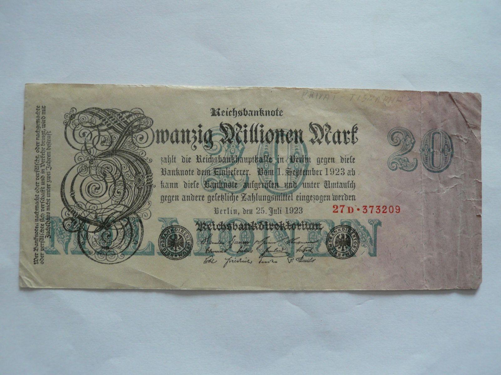 1 mil. Marek, Německo, 1923