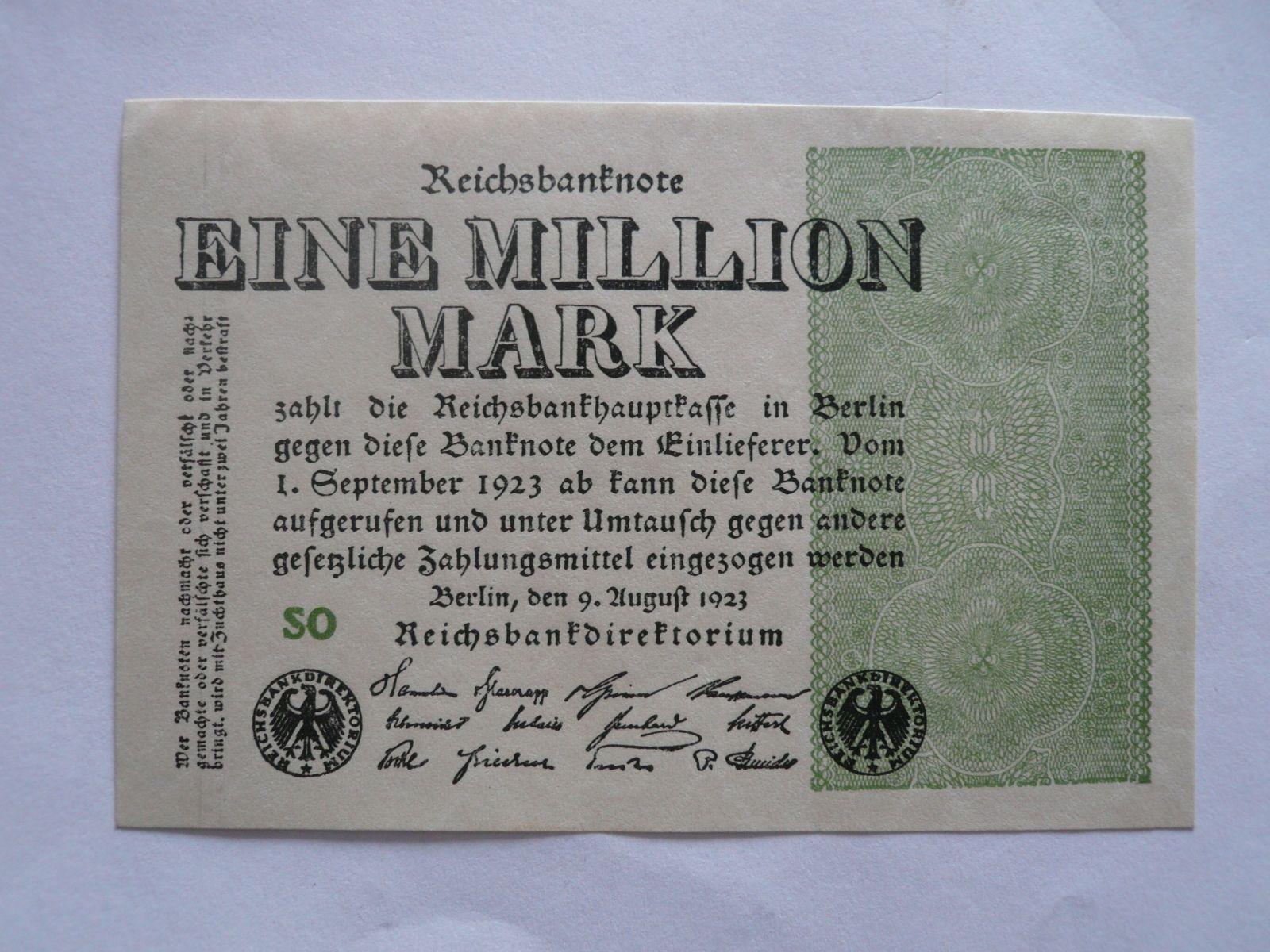 1 milion Marek, Německo, 1923