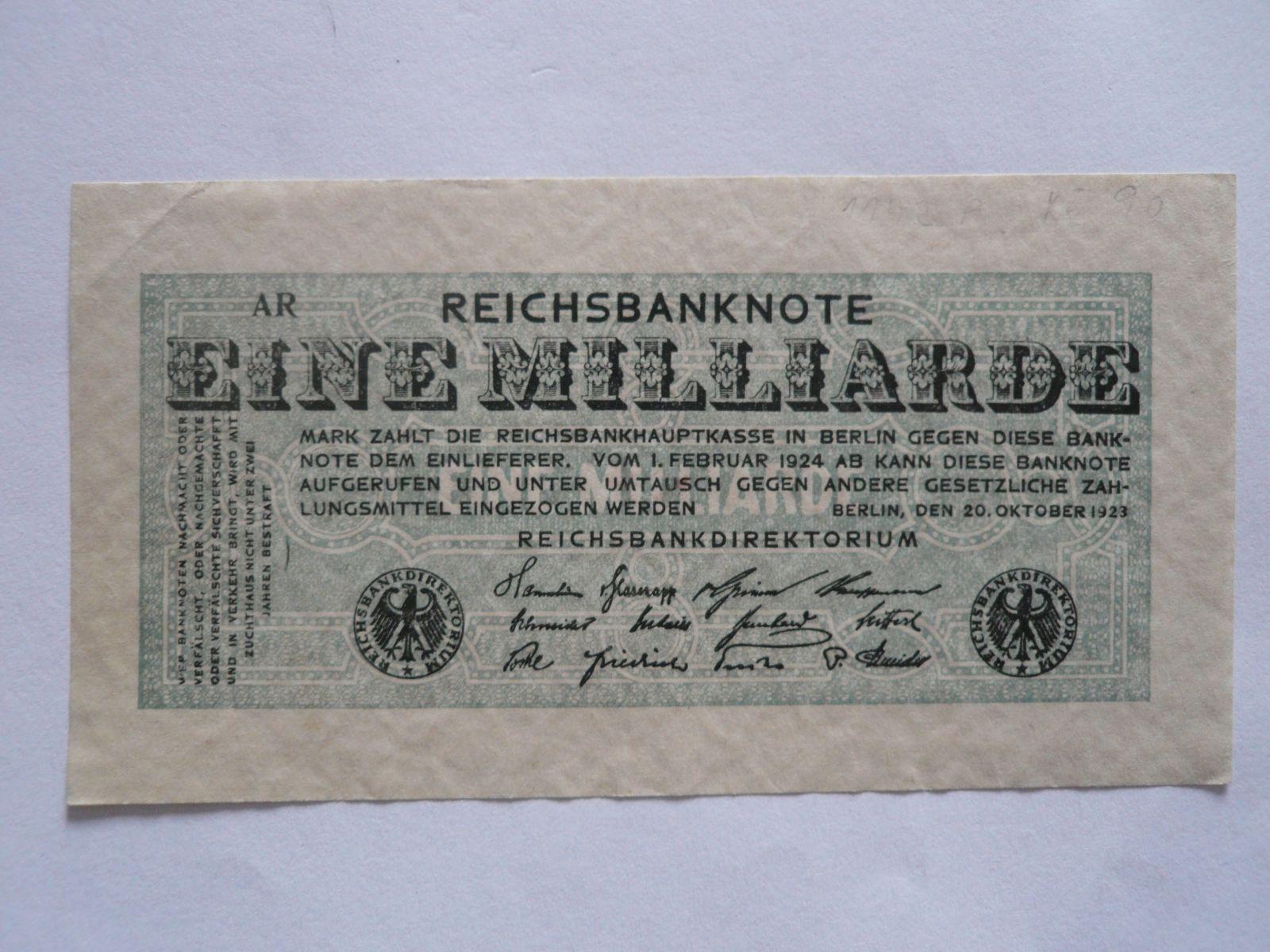 1 mld. Marek, Německo, 1923