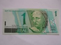 1 Real, Brazilie, hlava ženy