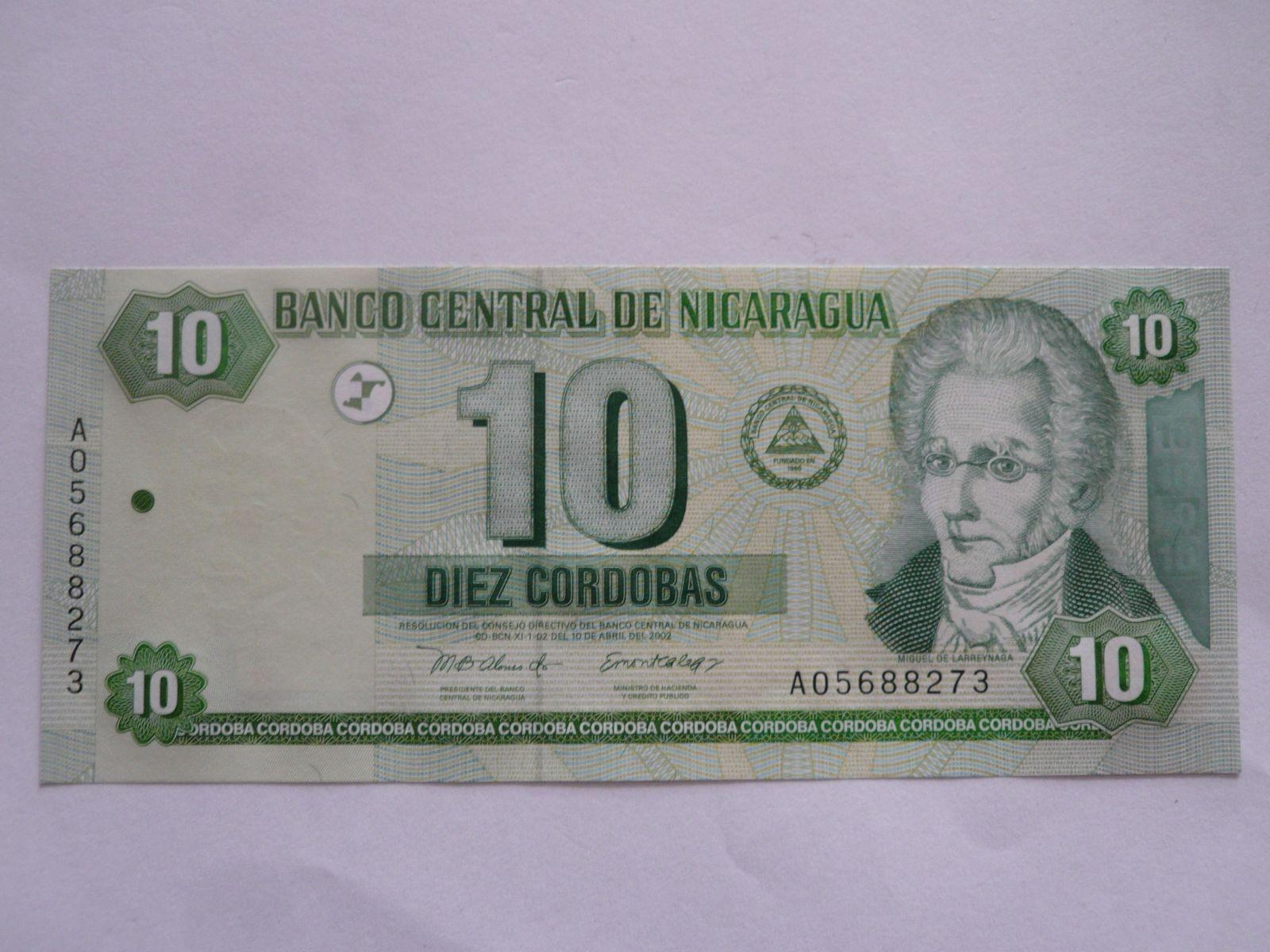 10 Cordobas, Nikaragua, 2002