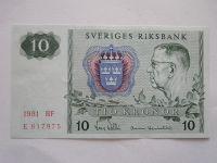 10 Krone, Švédsko, 1981