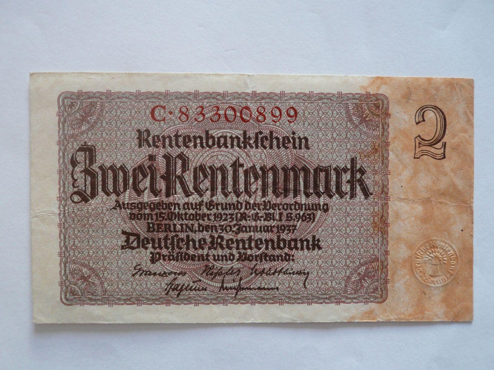 2 Marka, Německo, 1937