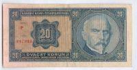 20Kč/1926/, stav 3 sv., série F - tisk Haase