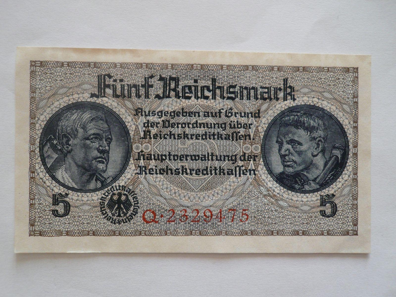 5 Marek, Německo, říšská kreditní pokladna