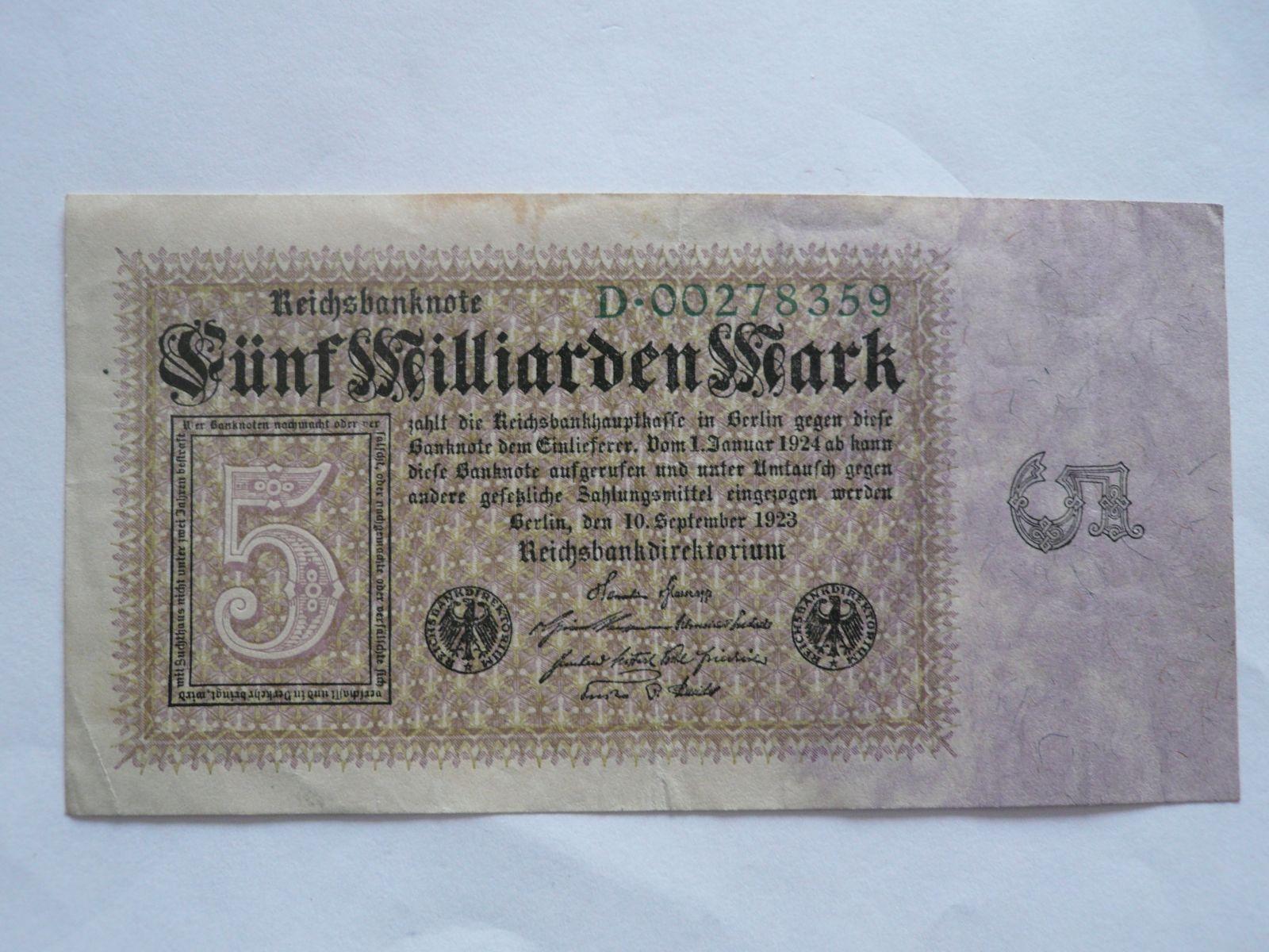 5 mld.Marek, Německo, 1923