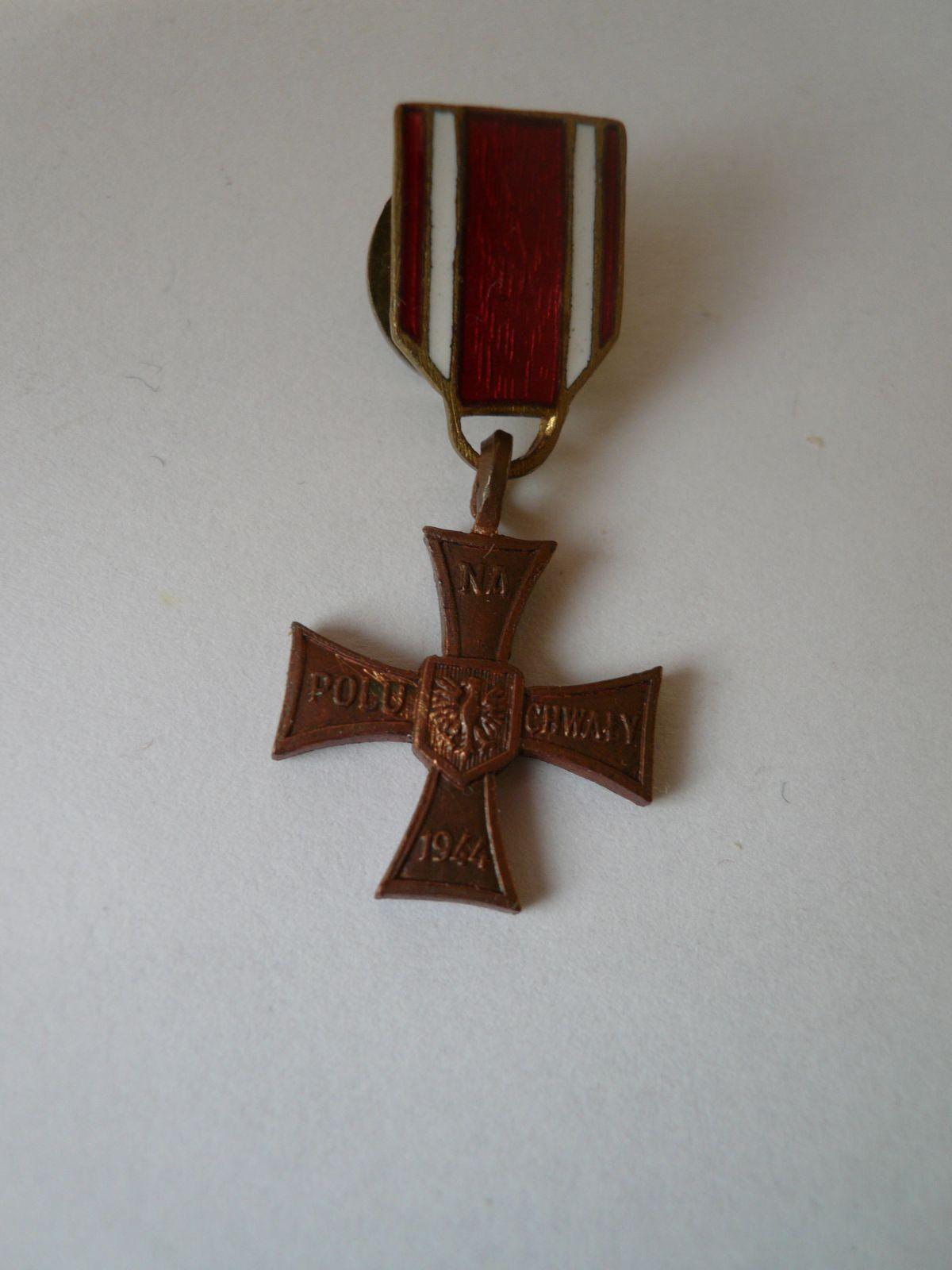miniatura kříže, 1944, Polsko
