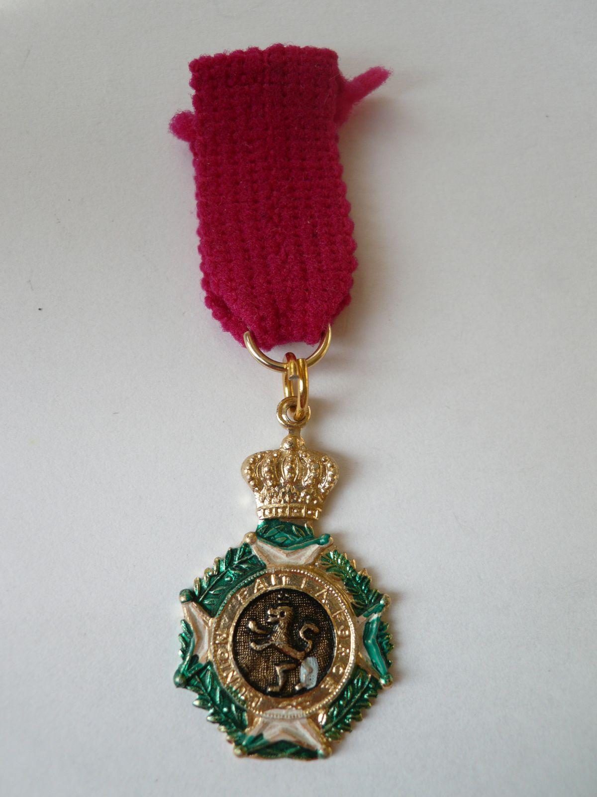 miniatura záslužní medaile, Belgie