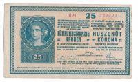 25K/1918/, stav 0, série 3124, vzácný číslovač 18/3mm