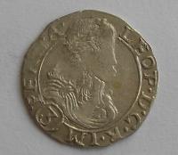 Čechy – K. Hora 3 Krejcar 1676 Leopold I.