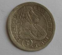 Čechy – K. Hora 3 Krejcar 1696 Leopold I.