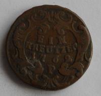 Čechy – Praha 1 Krejcar 1762 P Marie Terezie