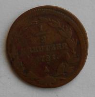 Rakousko 1/2 Krejcar 1781 A Josef II.
