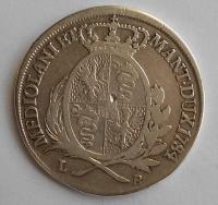 Rakousko 1/2 Scudo 1784 LB Josef II.