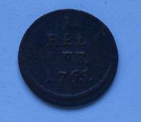 Rakousko 1 Heller 1765 Marie Terezie