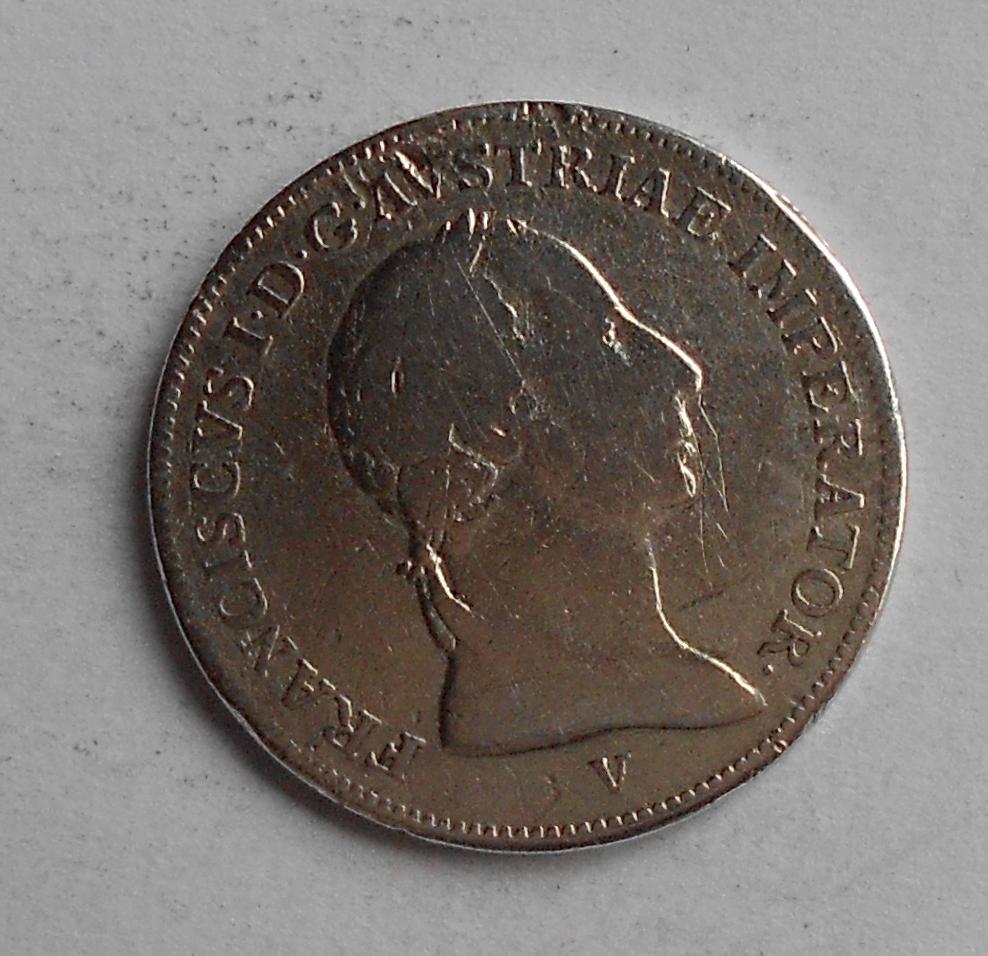 Rakousko – 1 Lira 1822 V František II., měl ouško