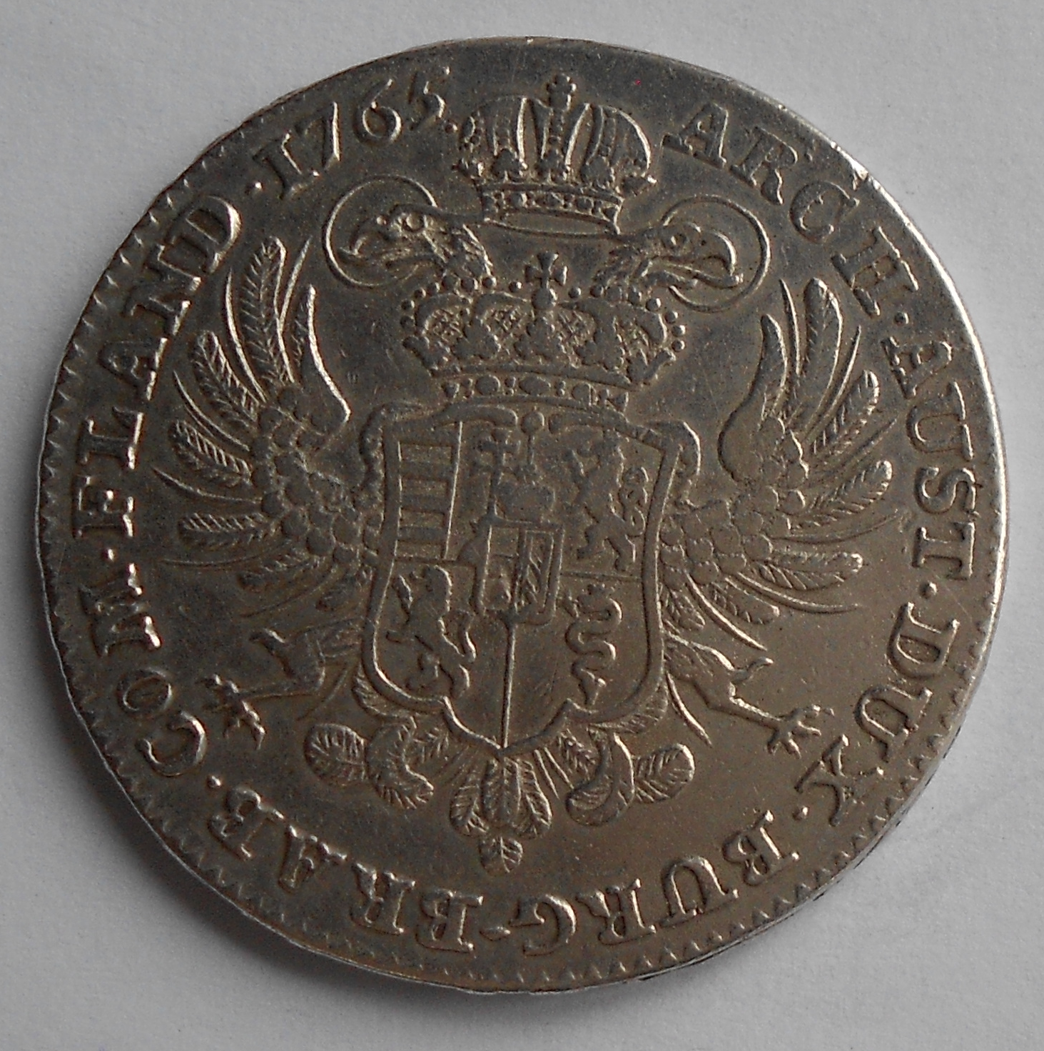 Rakousko Tolar 1765 Marie Terezie