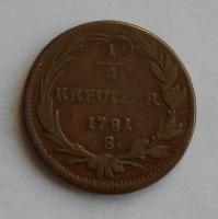Uhry – 1/2 Krejcar 1781 B Josef II.