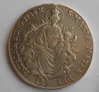 Uhry 1/2 Tolar 1786 B Josef II., měl ouško