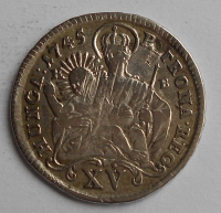 Uhry 15 Krejcar 1745 KB Marie Terezie