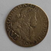 Uhry – Bratislava 3 Krejcar 1676 Leopold I.