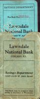 Vkladní knížka  Lawndale National Bank Chicago (1922)