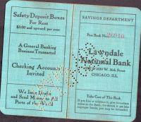 Vkladní knížka Lawndale National Bank Chicago (1922)