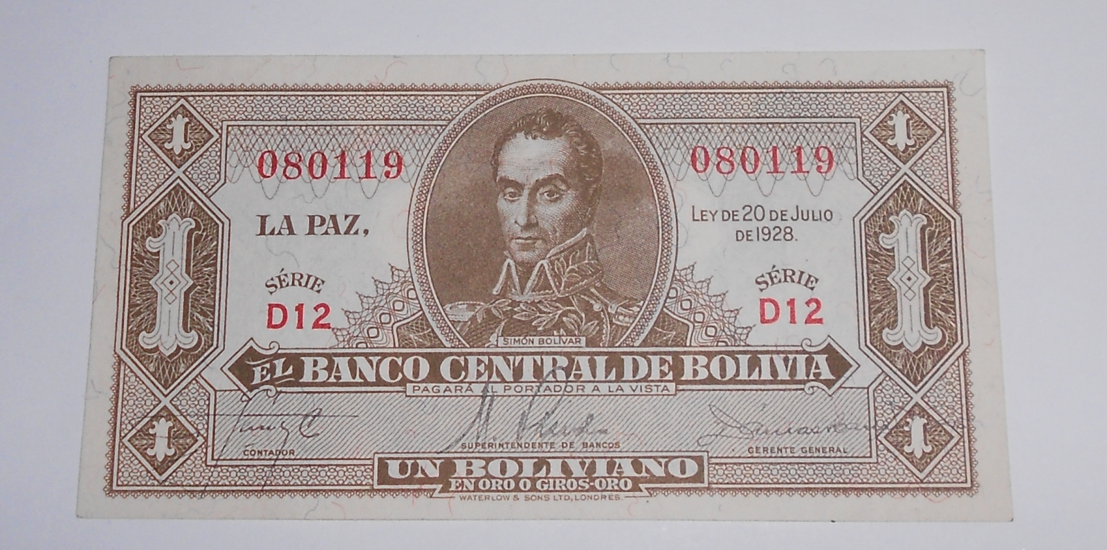 Bolivie 1 Cent 1928