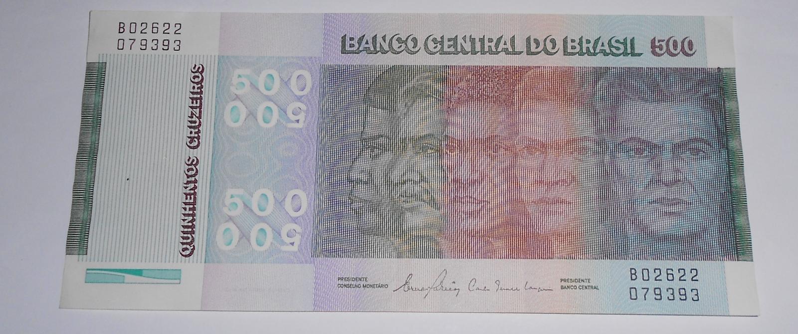 Brazilie 500 Cruzeiros, mapy