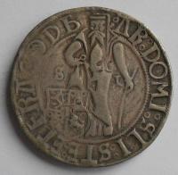 Čechy Jáchymovský Tolar 1516-26 Ludvík I., litá kopie z 19. stol.