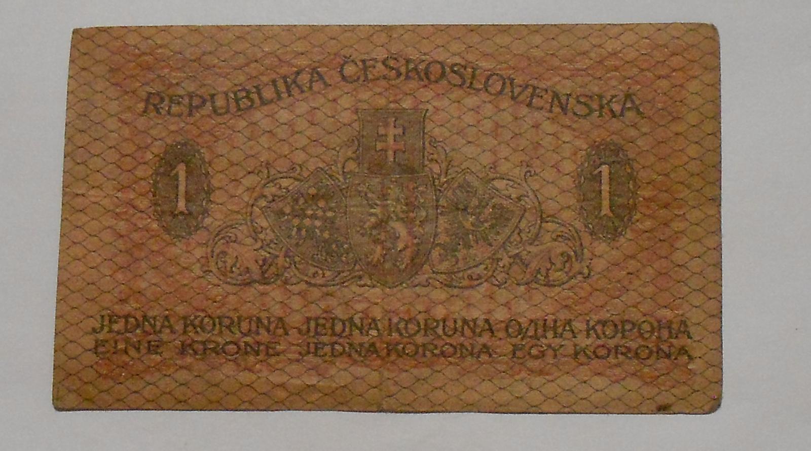 ČSR 1 Koruna 1919 s-255