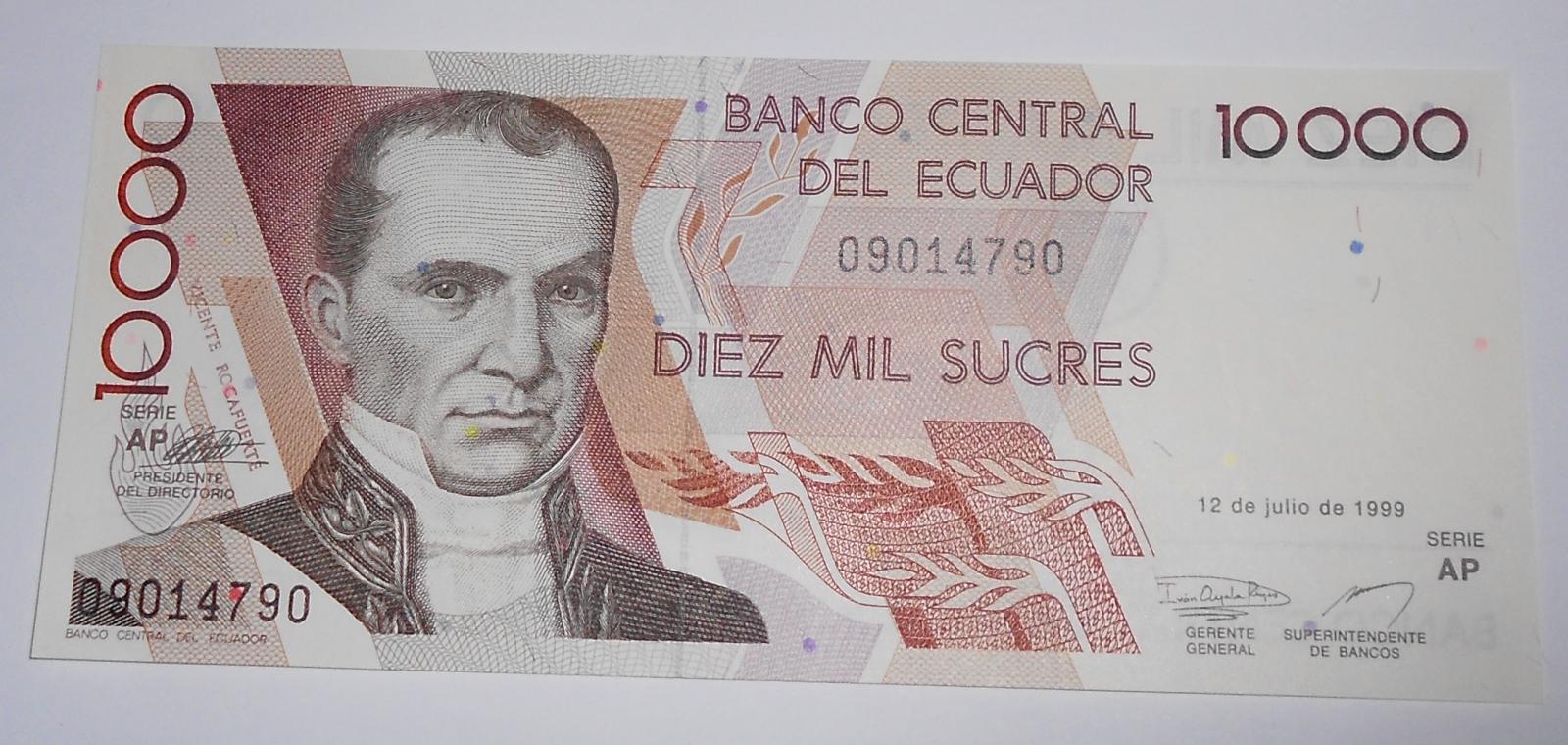 Ekvádor 10 000 Sucres 1999
