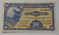 Gibraltar 10 Schilling 1954