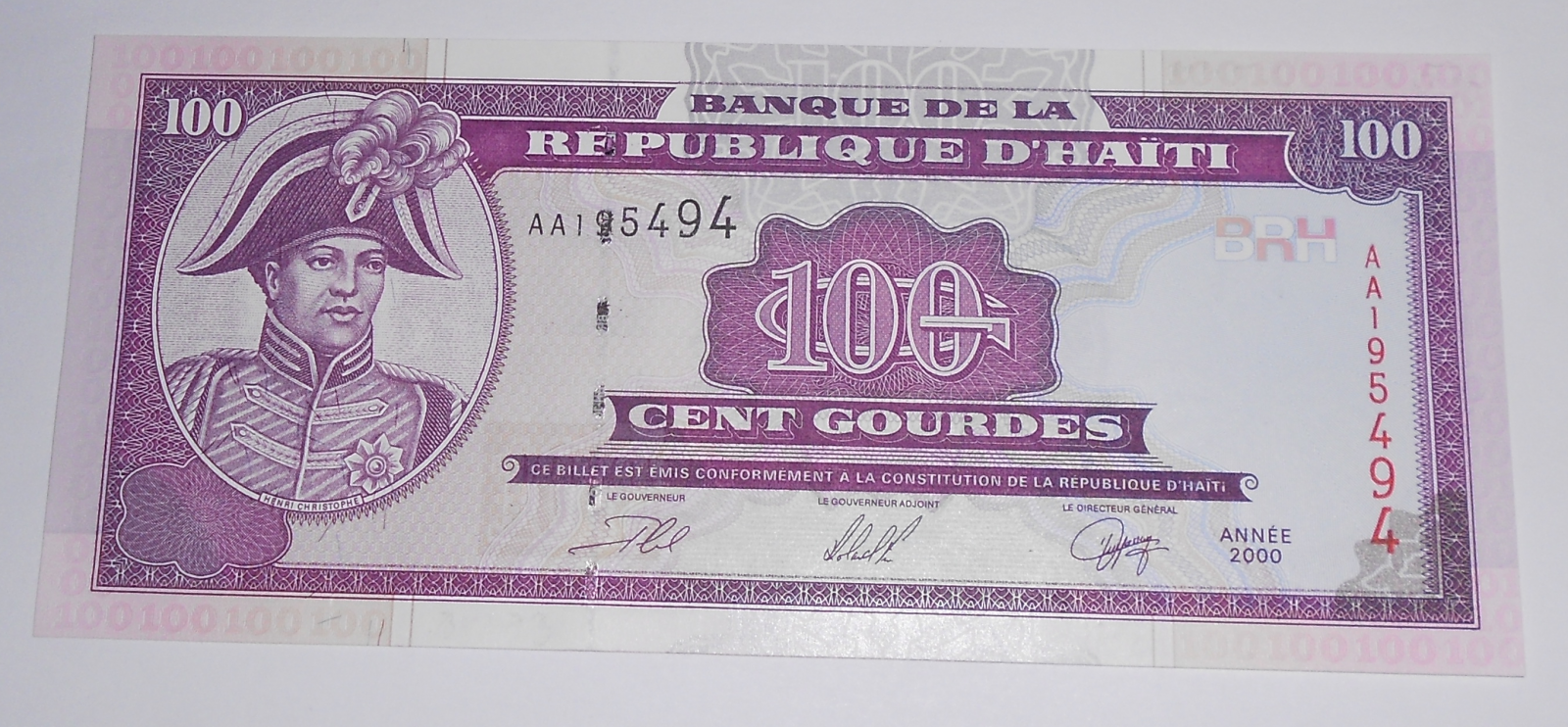 Haiti 100 Gourdes 2000
