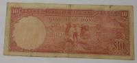 Indočína 10 Piastr, chrámový komplex 1947
