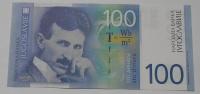 Jugoslávie 100 Dinár Tesla 2000