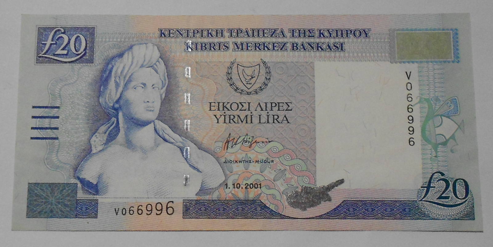 Kypr 20 Pounds Plachetnice 2001