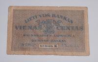Litva 1 Centas 1922