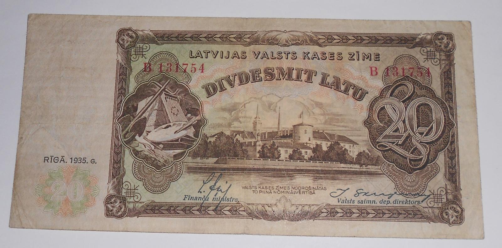 Litva 20 Latu 1935
