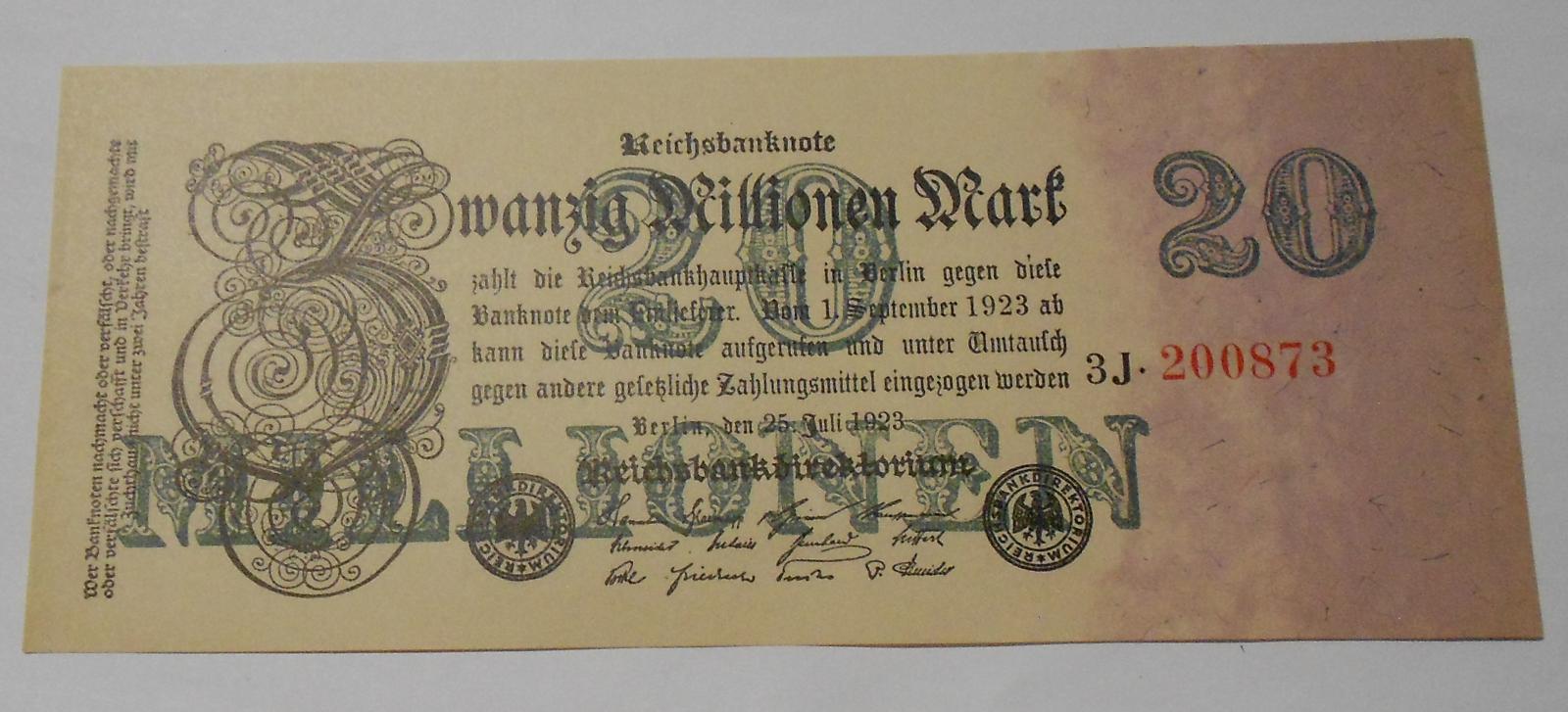 Německo 20 Pfennig 1923