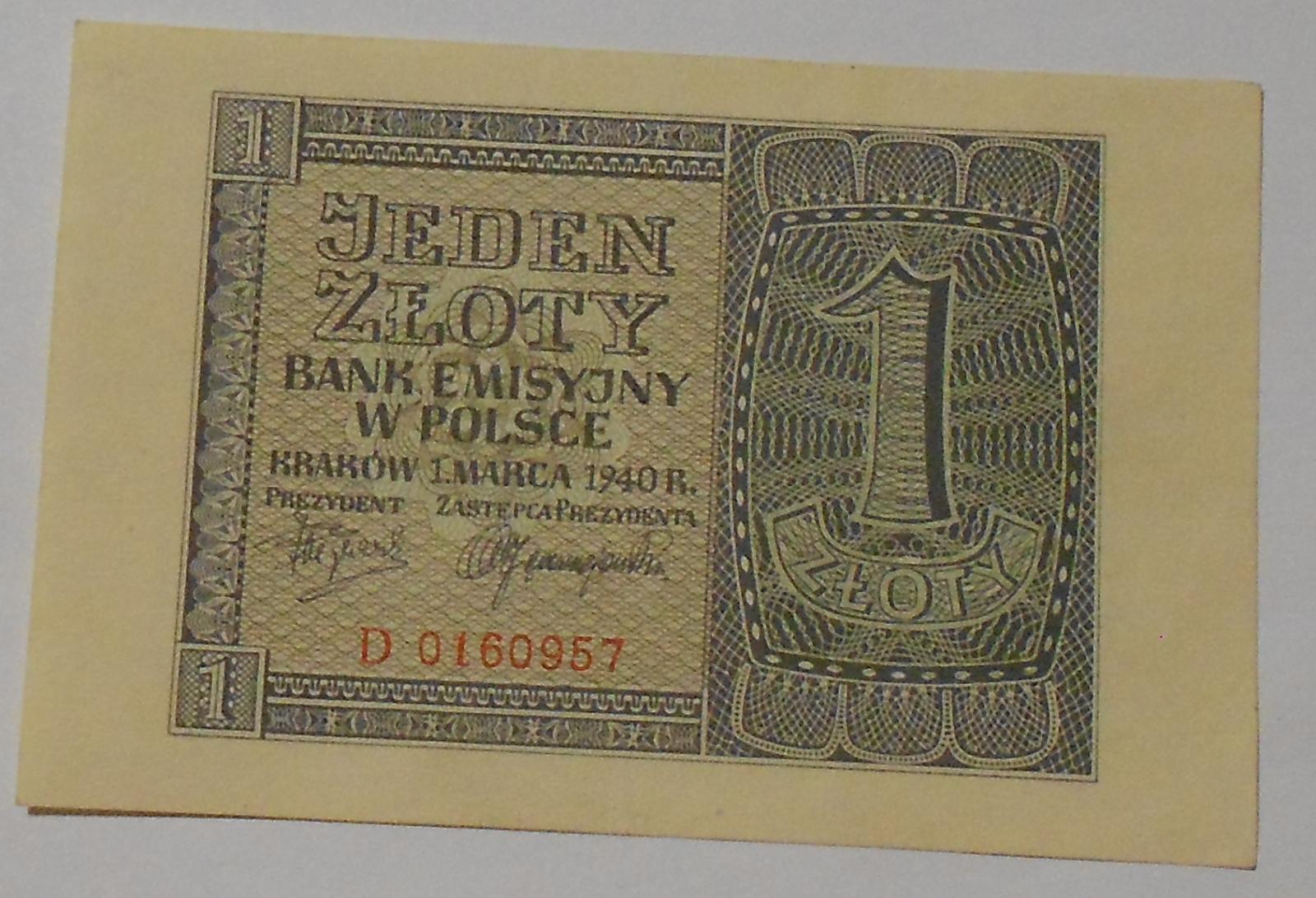 Polsko 1 Zlotý 1940
