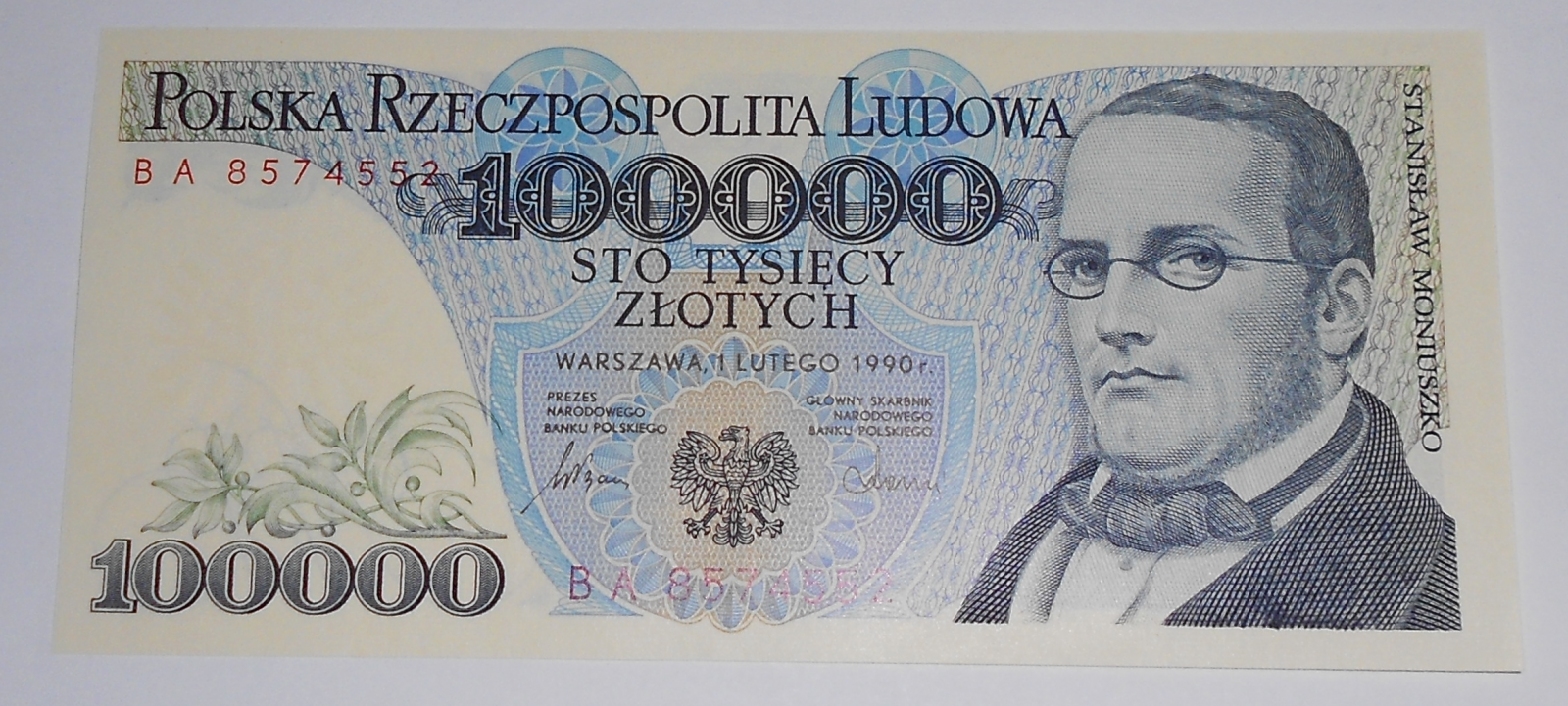 Polsko 100 000 Zlotý 1990