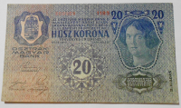 Rakousko 20 Koruna 1913 II. Vydání s-1185, razítko